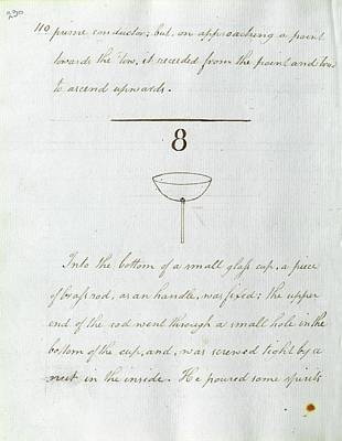 Faraday's Notes On Tatum's Lectures Poster by Royal Institution Of Great Britain