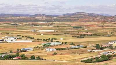 Farming Near Consuegra, Spain Poster