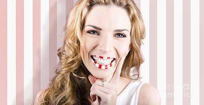 Fashion Cosmetic Lifestyle. Retro Makeup Woman Poster