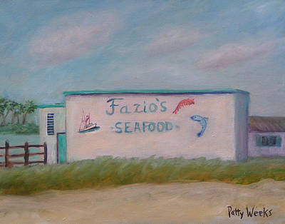 Fazios Seafood In St Augustine Florida Poster