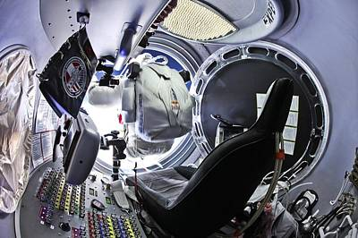 Felix Baumgartner Jumping From Capsule Poster by Science Photo Library
