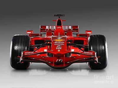 Ferrari F1 Poster by Marvin Blaine