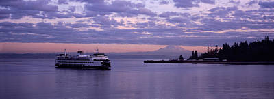 Ferry In The Sea, Bainbridge Island Poster by Panoramic Images