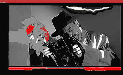 Film Homage Joe Pesci The Public Eye 1992 Weegee Screen Capture Color Added 2011 Poster