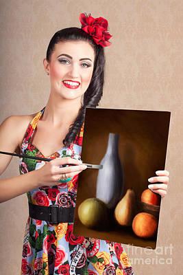 Fine Art Girl Painting Still Life Gallery Artwork Poster by Jorgo Photography - Wall Art Gallery