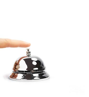 Finger Pushing Service Bell Poster