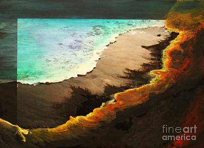 Poster featuring the mixed media Fire And Water by Jeanette French