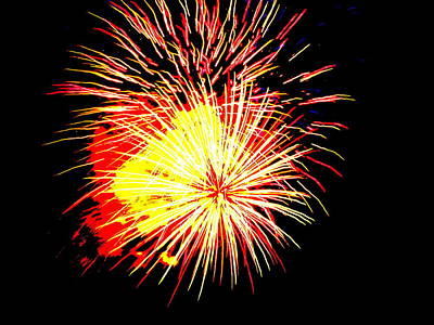 Fireworks Over Chesterbrook Poster by Michael Porchik