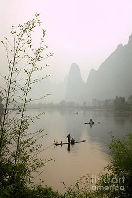 Fishermen In China Poster