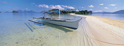 Fishing Boat Moored On The Beach Poster by Panoramic Images