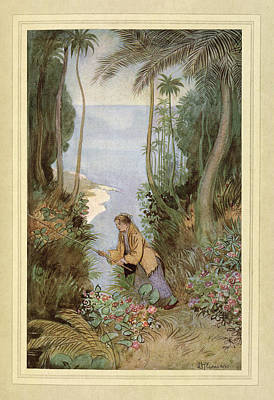 Fishing Poster by British Library