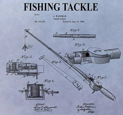 Fishing Tackle Patent Poster by Dan Sproul