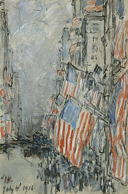 Flag Day. Fifth Avenue. July 4th 1916 Poster by Celestial Images