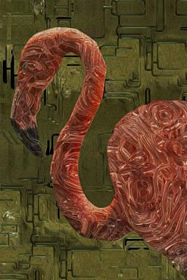 Flamingo Poster by Jack Zulli