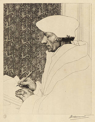 Félix Bracquemond French, 1833 - 1914 After Hans Holbein Poster by Litz Collection