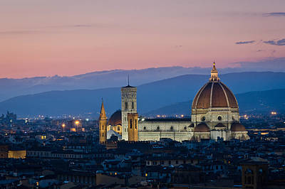 Florence At Sunset Poster