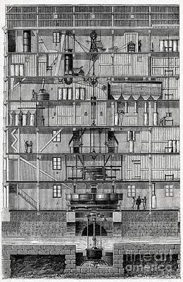 Flour Mill, 19th Century Poster
