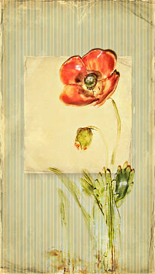 Flower Poster by Heike Hultsch