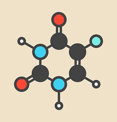 Fluorouracil Cancer Drug Molecule Poster by Molekuul