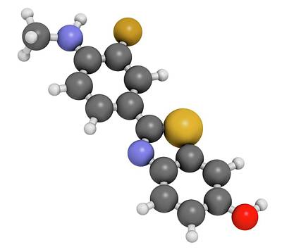 Flutemetamol 18f Pet Tracer Molecule Poster by Molekuul
