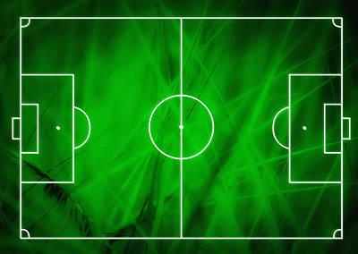 Football Soccer Field Poster