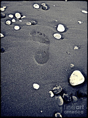 Poster featuring the photograph Footprint by Nina Ficur Feenan