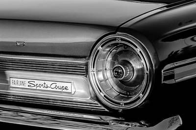 Ford Fairlane Sports Coupe Taillight Emblem Poster by Jill Reger