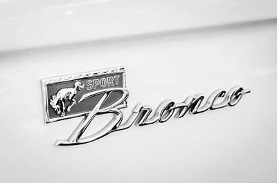 Ford Sport Bronco Emblem Poster by Jill Reger