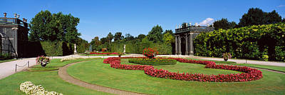 Formal Garden In Front Of A Building Poster by Panoramic Images