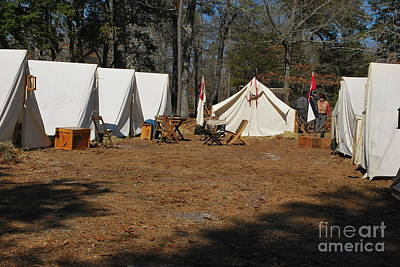 Confederate Encampment At Fort Anderson 1 Poster by Jocelyn Stephenson