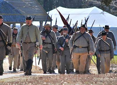Confederate Army At Fort Anderson  Poster by Jocelyn Stephenson