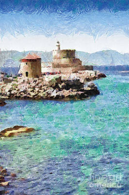 Fort Of Rhodes Painting Poster by Magomed Magomedagaev