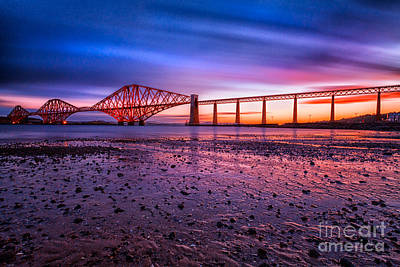 Forth Rail Bridge Poster by John Farnan