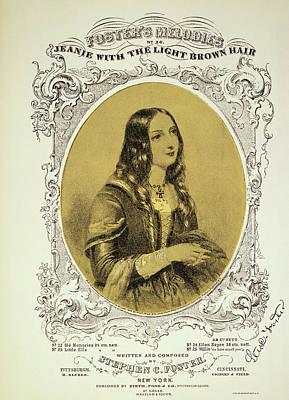 Foster Song Sheet, 1854 Poster