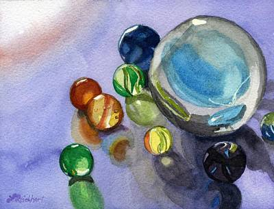 Poster featuring the painting Found My Marbles by Lynne Reichhart