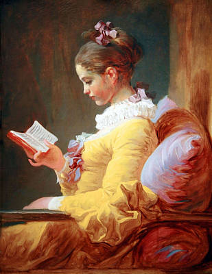 Poster featuring the photograph Fragonard's Young Girl Reading by Cora Wandel