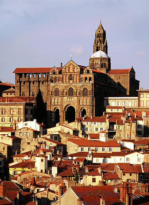 France, Le Puy, Haute Loire, Cathedral Poster