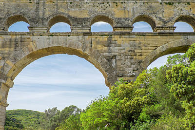 France, Nimes, The Pont Du Gard Is An Poster by Emily Wilson