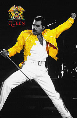 Freddie Mercury Live In Wembley1986    Poster by Don Kuing