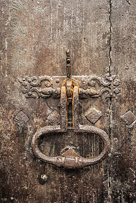 French Door Knocker Poster