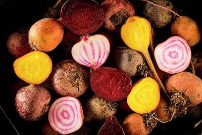 Fresh Beetroot And Red Onions Poster