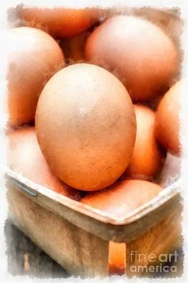 Fresh Eggs  Poster by Edward Fielding