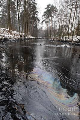 Fuel Oil Spill In A River Poster by RIA Novosti