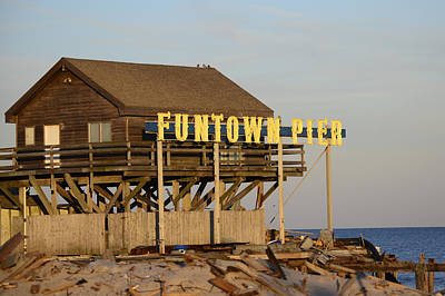 Funtown Pier Poster