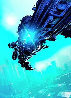 Futuristic Spacecraft Poster