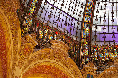 Galeries Lafayette Dome Poster by Brian Jannsen