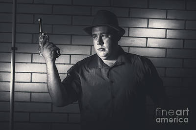 Gangster Man Surrendering During Armed Holdup Poster by Jorgo Photography - Wall Art Gallery