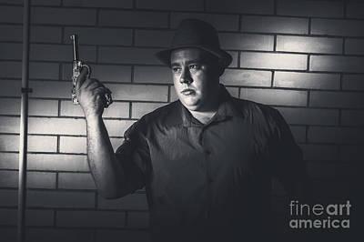 Gangster Man Surrendering During Armed Holdup Poster