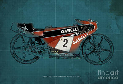 Garelli 50cc Grand Prix Racing Motorcycle 1983 Poster by Pablo Franchi