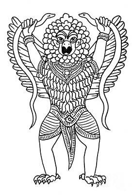 Garuda, The Vahana Of Lord Vishnu Poster by Photo Researchers